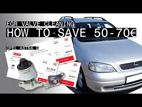 OPEL Astra G - EGR Valve Cleaning (how To Save 50-70€)
