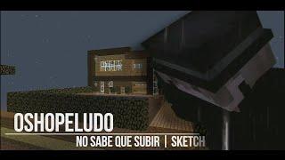 ¡OSHOPELUDO NO SABE QUE SUBIR! | Minecraft: Sketch en Español | •Oshopeludo 7w7•