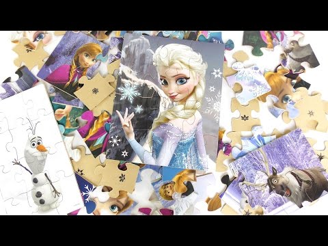 FROZEN wooden Puzzles compilation video for kids