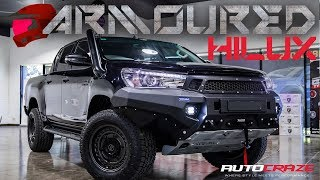 ARMOURED HILUX // Toyota Hilux Wheels, Toyo Tyres, Roll R Cover, Rival Bar, Snorkel & More