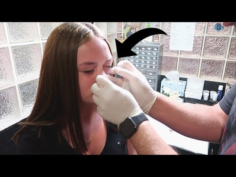 Mya Gets Her NOSE PIERCED!(at 14 years old)