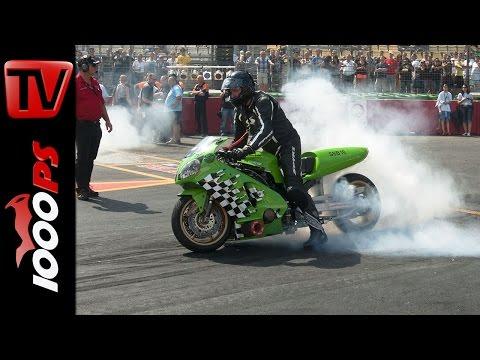 600PS Kawasaki ZX-12R – ¼ Meile in 7,67 Sekunden