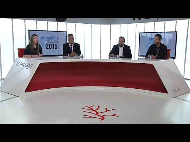 PP, PSOE y BNG aluden en el debate de TeleLugo a su compromiso con la ciudad