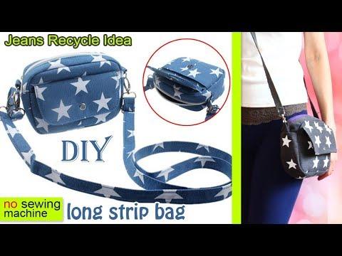 DIY BEST SUMMER BAG FROM OLD JEANS MAKING STAR PRINT EASY TRAVEL SUMMER BAG