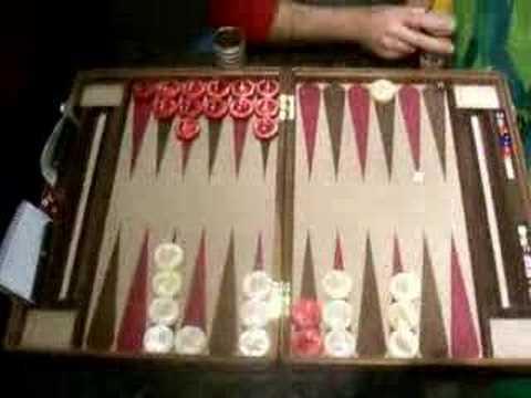 Santa Barbara Backgammon Finals Game 1 (partial)