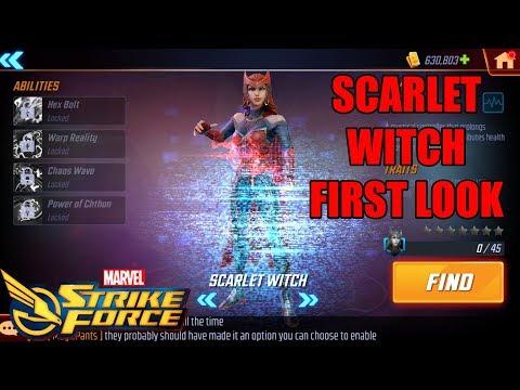 Scarlet Witch First Look - Marvel Strike Force
