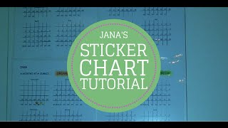 TUTORIAL How to Make a Sticker Charts To Stick To Habits