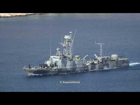Hellenic Navy Missile Patrol Boat P29 HS Starakis deployment in Megisti island.