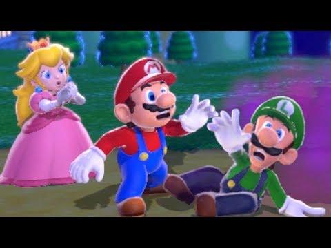 Super Mario 3D World 100% CoOp Walkthrough  World 1 All Green Stars & Stamps