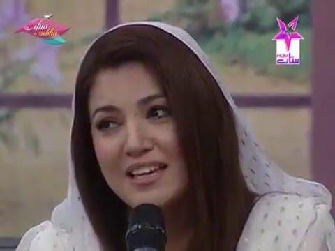 Reham khan  singing  a heart touching song in morning show