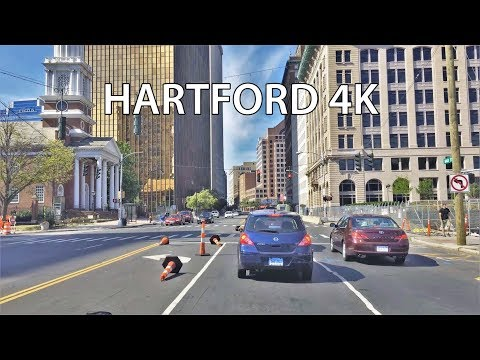 Driving Downtown - Hartford Connecticut USA