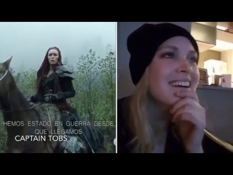 Eliza Taylor reacting to The 100 Season 3   Subtitulado español