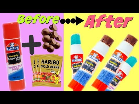 FIVE Easy Edible Glue Hacks ( HOW TO SNEAK FOOD Into Class) Edible Snacks
