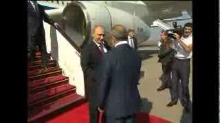 Putin arrives to sign energy deals in Baku