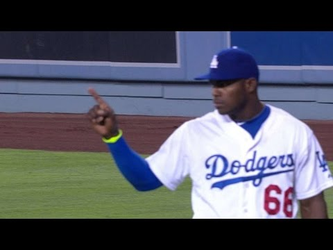 Thumbnail: Puig, Aybar wave fingers at each other