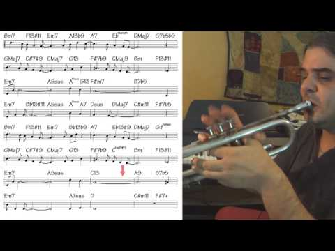 Fly Me to the Moon - trumpet cover (slow theme tutorial)