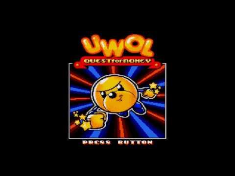 Title Screen - Uwol: Quest for Money (PC)