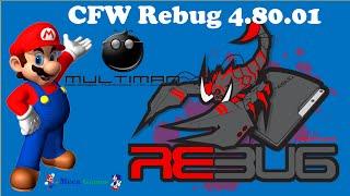 🎮 Atualização PS3 Desbloqueado CFW 4.80 CFW Rebug CEX