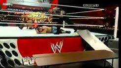 WWE, John Cena Vs. Randy Ortan, Tables match (On Raw)