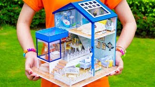5 DIY Miniature Dollhouse Rooms with Pool