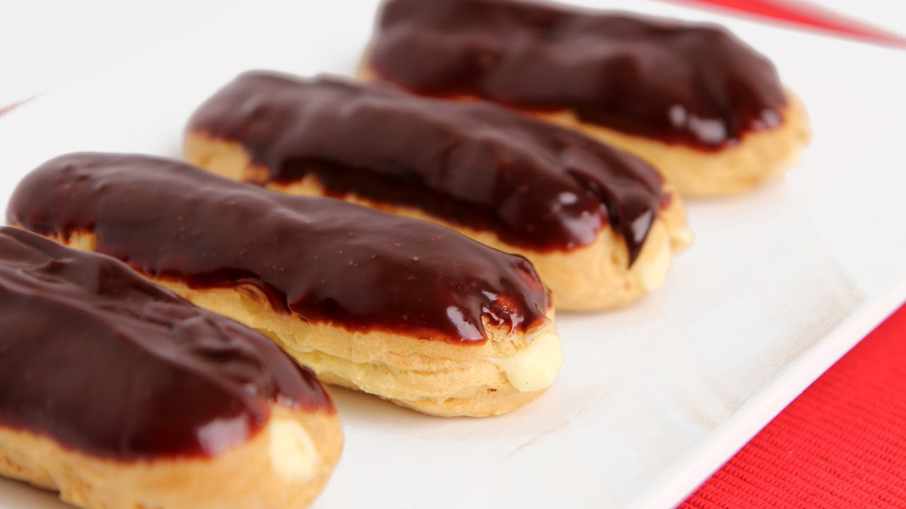 Homemade Eclairs Recipe - Laura Vitale - Laura in the Kitchen Episode ...