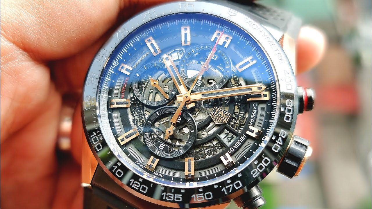 [Hiếm \u0026 Đẹp] Tag Heuer Carrera Chronograph Ceramic Gold CAR205A.FT6087 | ICS Authentic