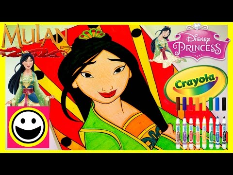 Disney Princess MULAN - Crayola COLOR BY NUMBER - Princess Coloring Pages - Color With Me