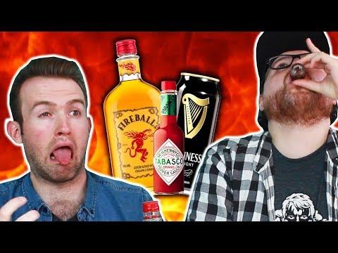 Irish People Try Fireball Whiskey Mixes