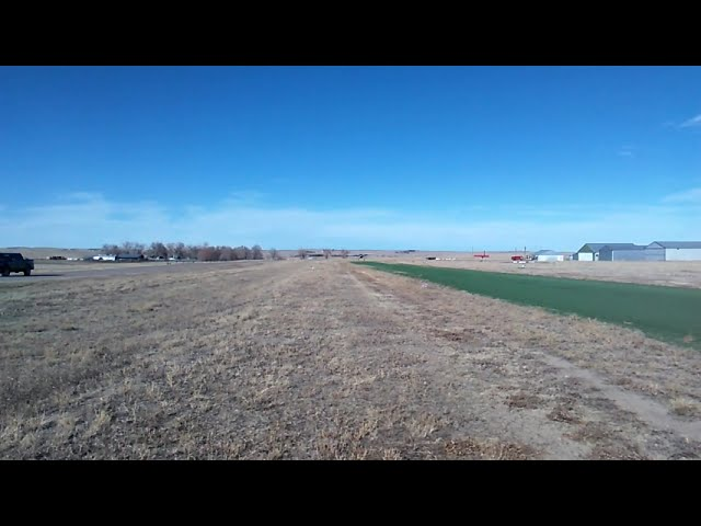 Cessna 180 return engagement to Calhan Colorado Airport.