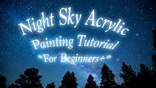 sky night painting tutorial beginners acrylic diy canvas tutorials skies canvases