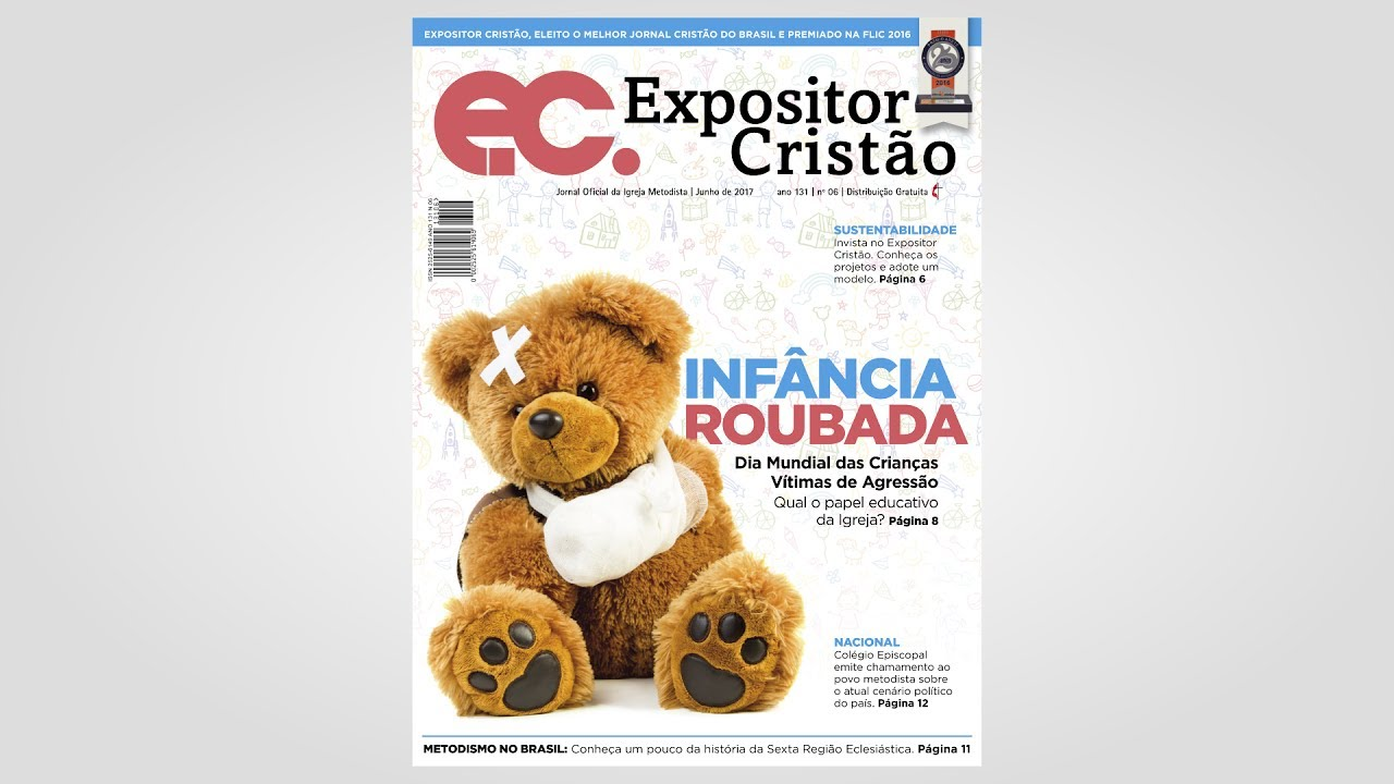 Expositor Cristão de junho aborda o papel educativo da igreja com crianças vítimas de agressão