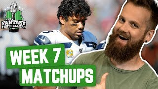 Fantasy Football 2019 - Week 7 Matchups  In-or-Out Ballers on a Budget - Ep 799