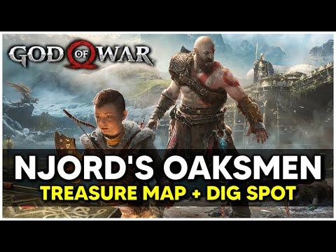 God Of War - Njord's Oarsmen Treasure Map + Dig Spot Locations
