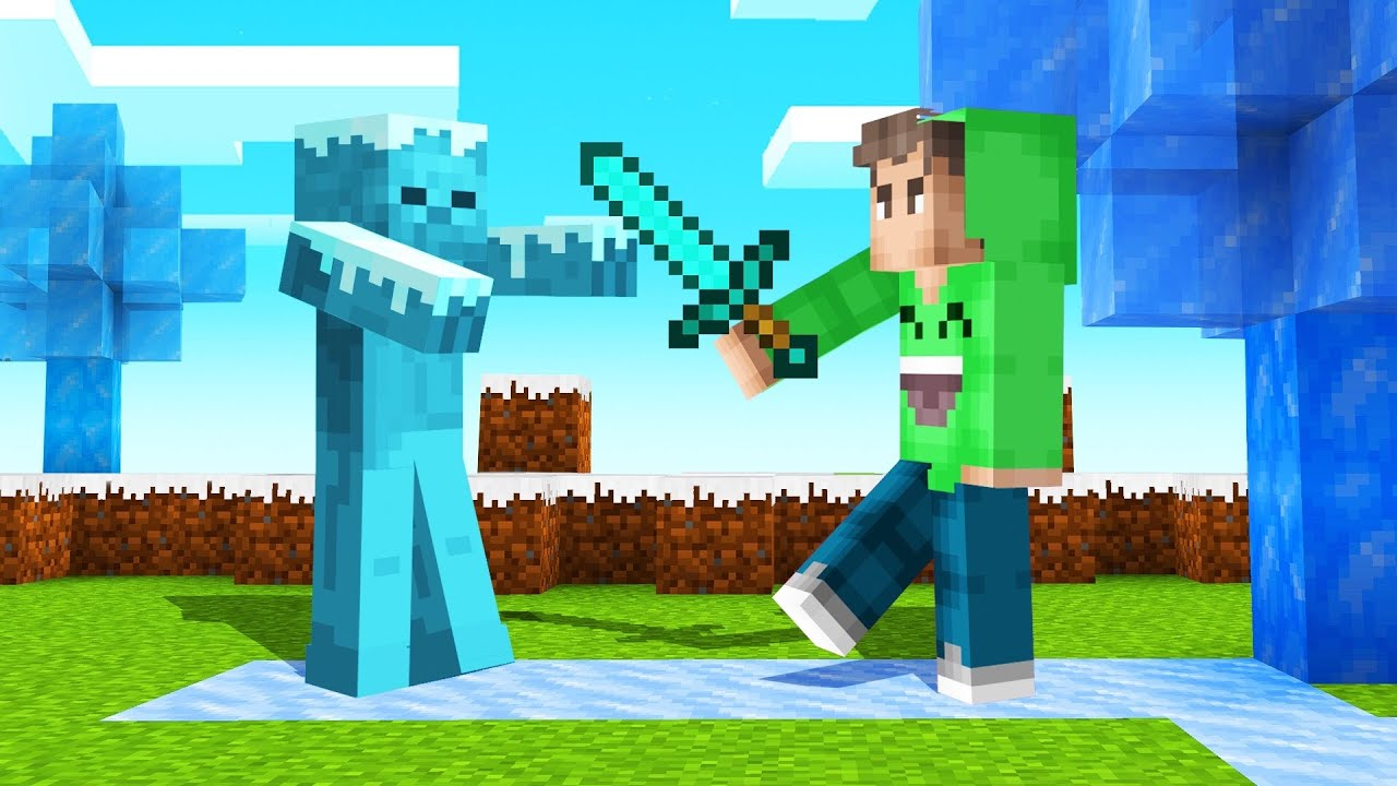 MINECRAFT But EVERYTHING You TOUCH = FROZEN! thumbnail