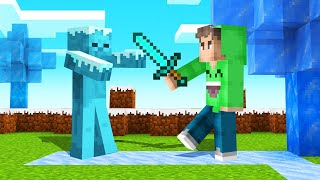 MINECRAFT But EVERYTHING You TOUCH = FROZEN!