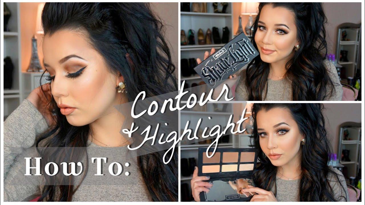 ™�how To: Contour & Highlight  Kat Von D Shade + Light Palette♡