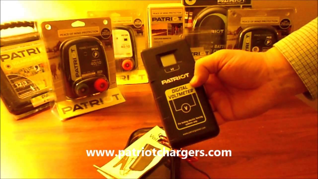 Digital Voltmeter Fence : Patriot dvm electric fence digital tester and