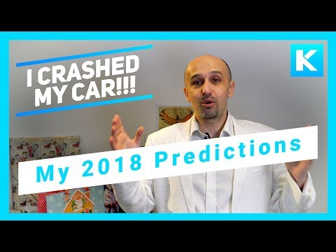 My Car Crash and Predictions for 2018 - Bitcoin, Cure for Ageing, AI and more!