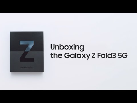 Galaxy Z Fold3 5G: Official Unboxing   Samsung