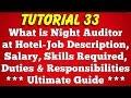 What is Night Auditor at Hotel - Salary, Job Description, Duties, Night Audit Process (Tutorial 33)