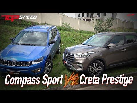 Comparativo Compass Sport VS Creta Prestige    Canal Top Speed
