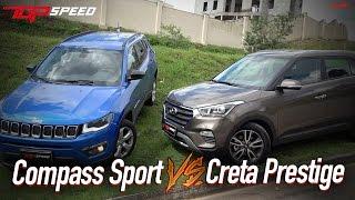 Comparativo Compass Sport VS Creta Prestige  | Canal Top Speed