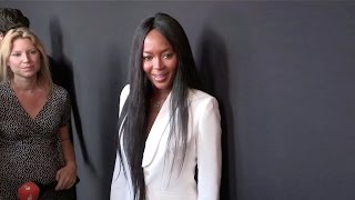 Beautiful NAOMI CAMPBELL at Versace Photocall in Paris