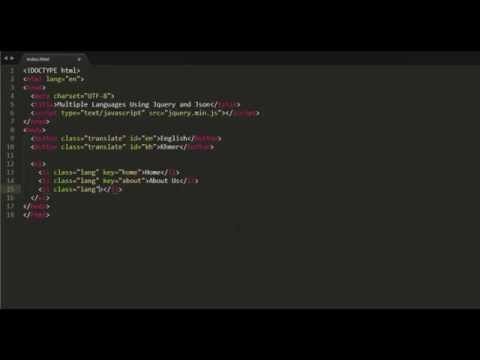 Multiple Languages Using Jquery And Json
