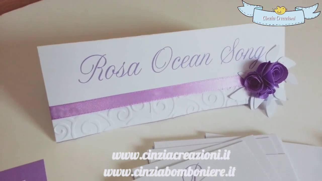 Preferenza Matrimonio tema fiori cartellino cavaliere segnatavolo con rose  LN86