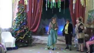 Выход  Кота  и  Лисы,  Кикиморы  и  Бабы  Яги  на  Новогоднем  празднике