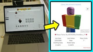 leaving my roblox account logged in at the store! (Bad idea?)