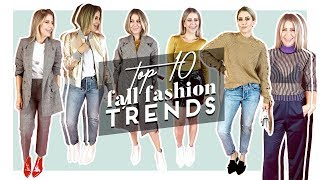 Top 10 Fall Fashion Trends | 2017