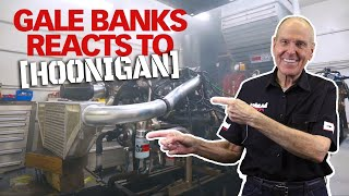 Gale Banks Reacts to HOONIGAN 1,000 HP Compound Turbo Duramax Diesel
