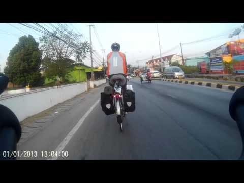 Riding through Old Phuket Town to Chalong